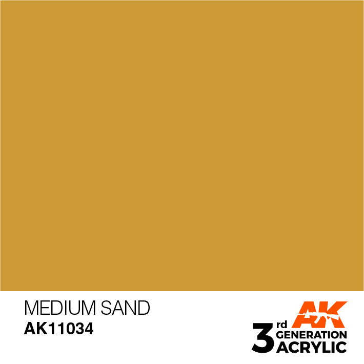 AK-Interactive Medium Sand Acrylic Modelling Color - 17ml - AK-11034