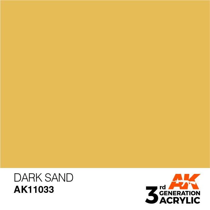 AK-Interactive Dark Sand Acrylic Modelling Color - 17ml - AK-11033