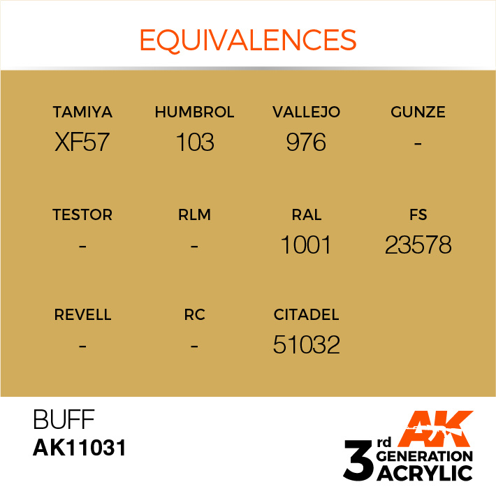 AK-Interactive Buff Acrylic Modelling Color - 17ml - AK-11031