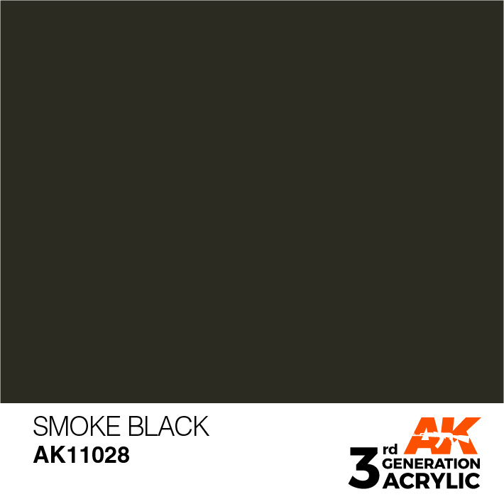 AK-Interactive Smoke Black Acrylic Modelling Color - 17ml - AK-11028