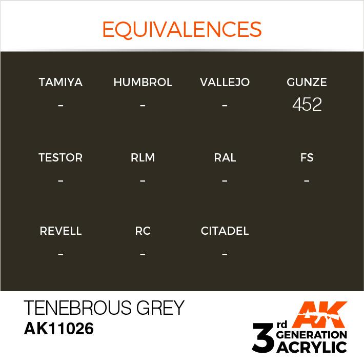 AK-Interactive Tenebrous Grey Acrylic Modelling Color - 17ml - AK-11026