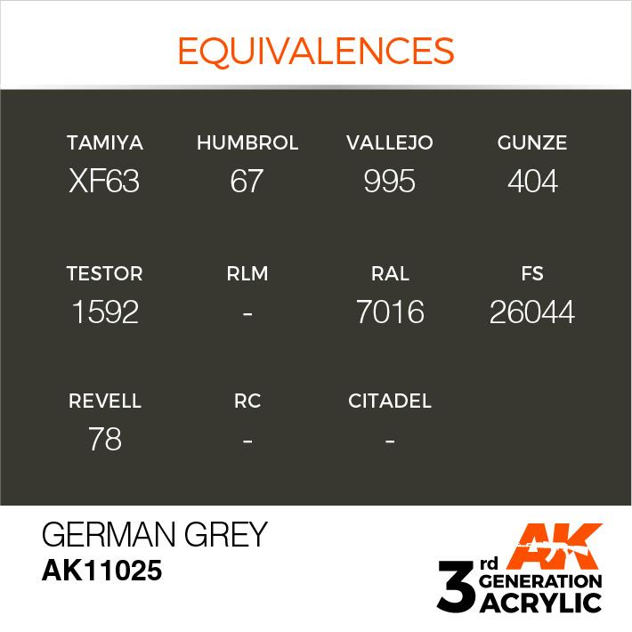 AK-Interactive German Grey Acrylic Modelling Color - 17ml - AK-11025