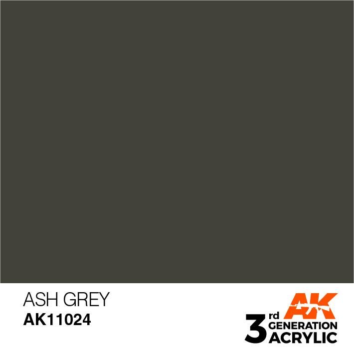 AK-Interactive Ash Grey Acrylic Modelling Color - 17ml - AK-11024
