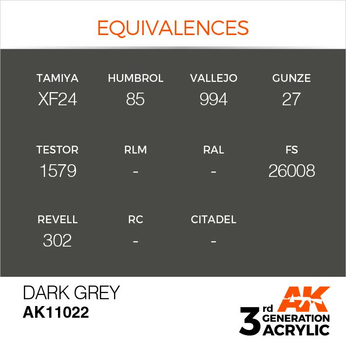 AK-Interactive Dark Grey Acrylic Modelling Color - 17ml - AK-11022