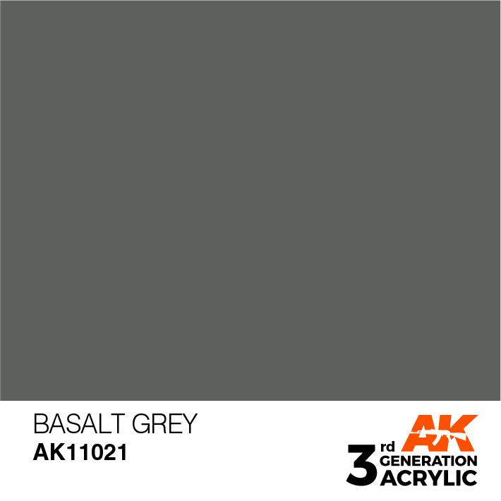 AK-Interactive Basalt Grey Acrylic Modelling Color - 17ml - AK-11021