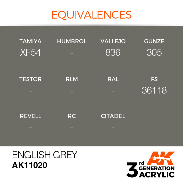 AK-Interactive English Grey Acrylic Modelling Color - 17ml - AK-11020