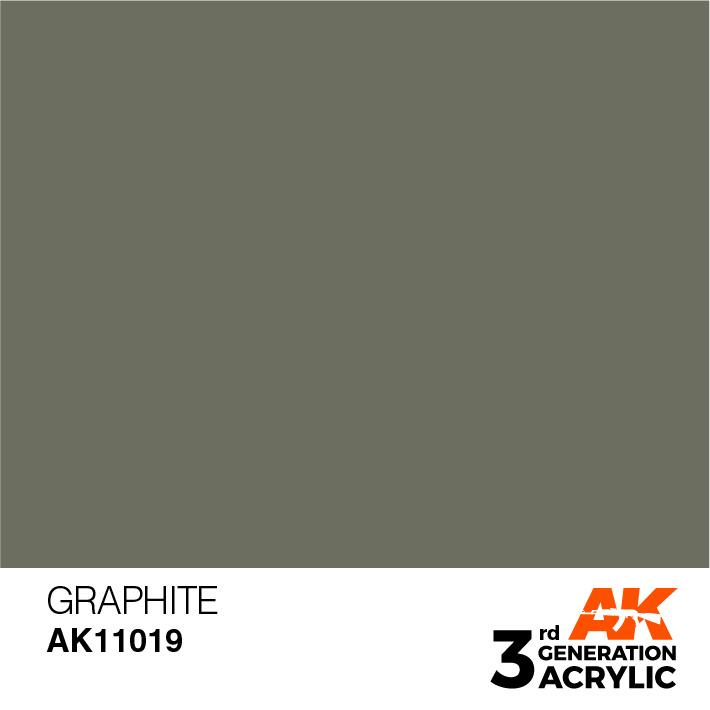 AK-Interactive Graphite Acrylic Modelling Color - 17ml - AK-11019