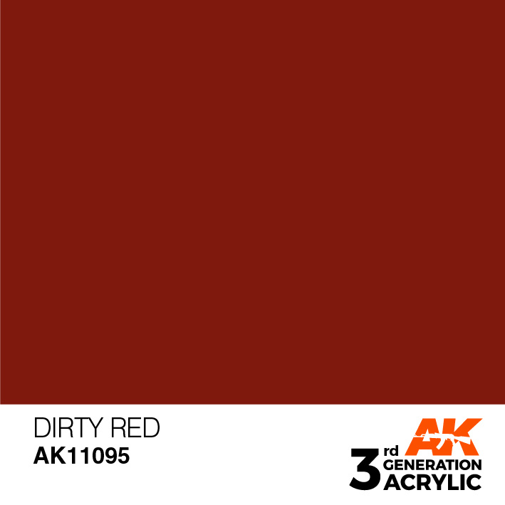 AK-Interactive Dirty Red Acrylic Modelling Color - 17ml - AK-11095