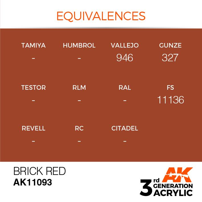 AK-Interactive Brick Red Acrylic Modelling Color - 17ml - AK-11093