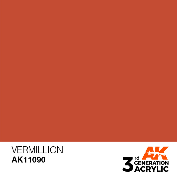 AK-Interactive Vermillion Acrylic Modelling Color - 17ml - AK-11090