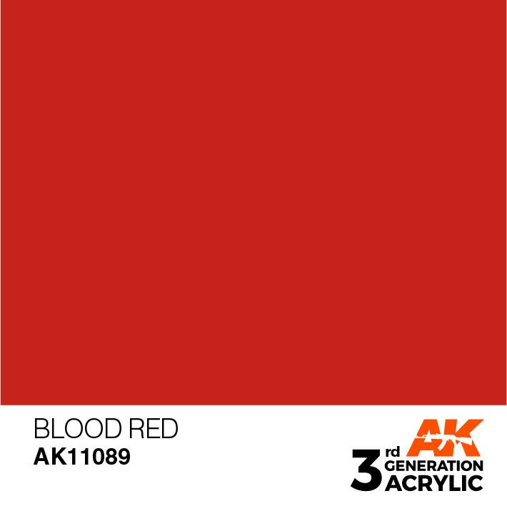 AK-Interactive Blood Red Acrylic Modelling Color - 17ml - AK-11089