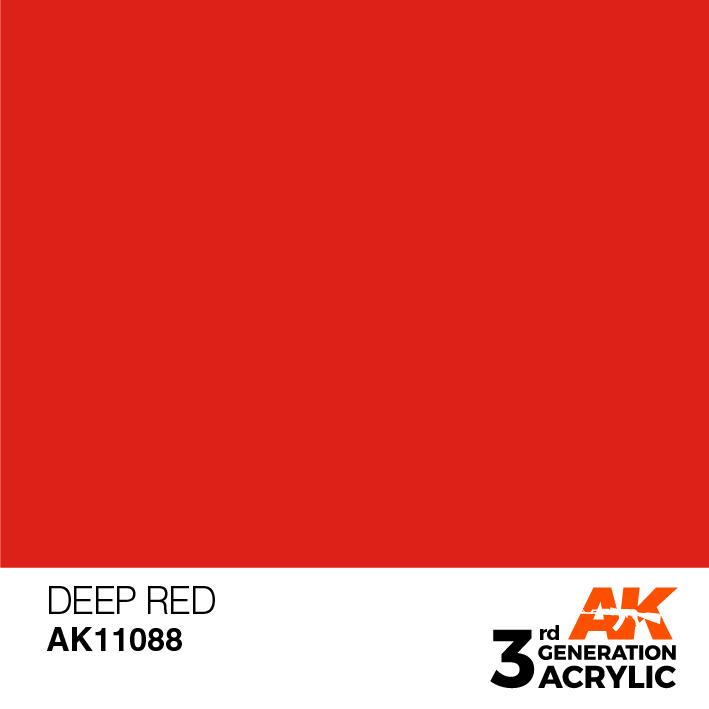 AK-Interactive Deep Red Acrylic Modelling Color - 17ml - AK-11088
