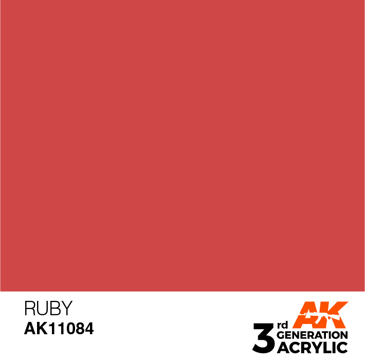 AK-Interactive Ruby Acrylic Modelling Color - 17ml - AK-11084