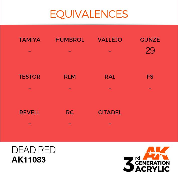 AK-Interactive Dead Red Acrylic Modelling Color - 17ml - AK-11083