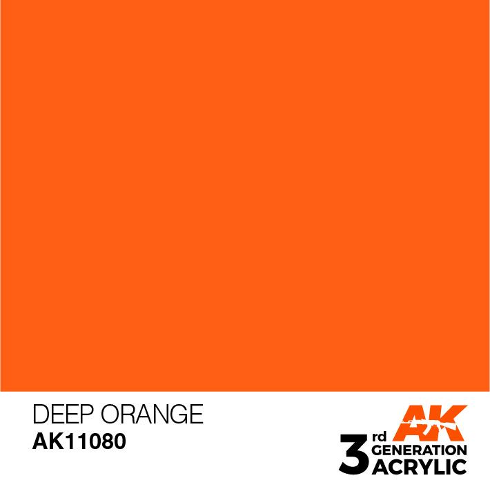 AK-Interactive Deep Orange Acrylic Modelling Color - 17ml - AK-11080