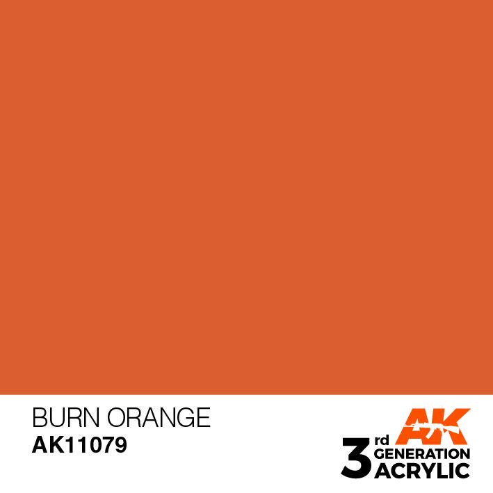 AK-Interactive Burn Orange Acrylic Modelling Color - 17ml - AK-11079