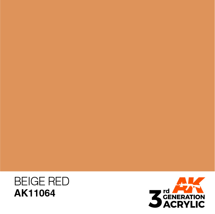 AK-Interactive Beige Red Acrylic Modelling Color - 17ml - AK-11064