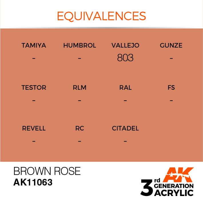 AK-Interactive Brown Rose Acrylic Modelling Color - 17ml - AK-11063