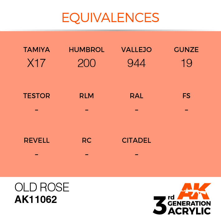AK-Interactive Old Rose Acrylic Modelling Color - 17ml - AK-11062