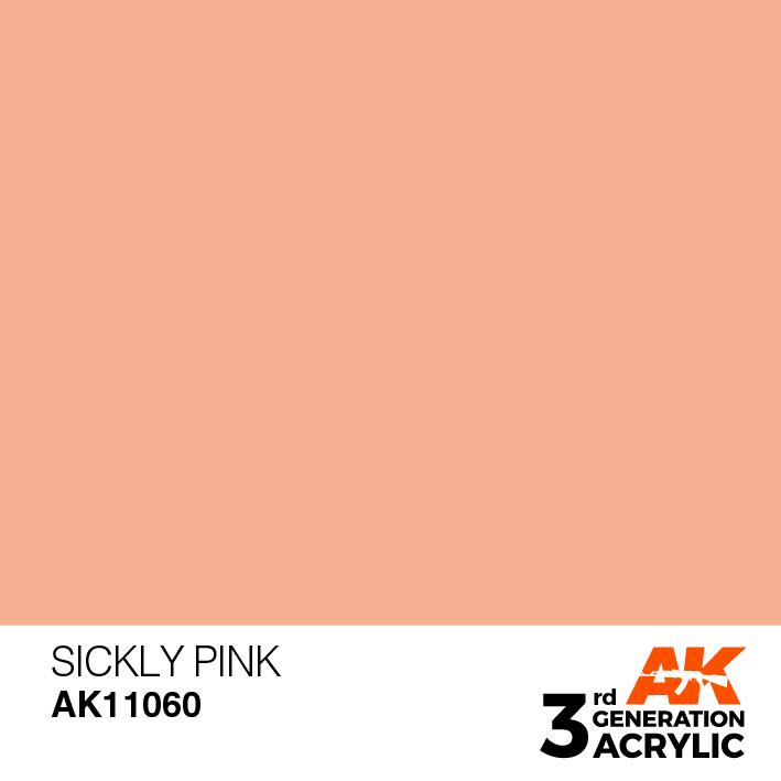 AK-Interactive Sickly Pink Acrylic Modelling Color - 17ml - AK-11060
