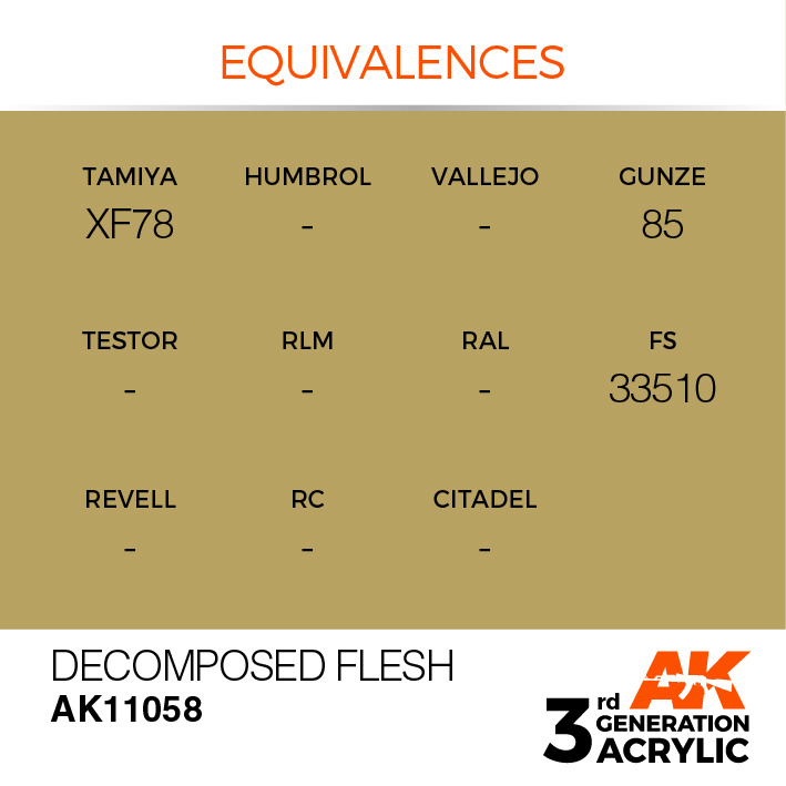 AK-Interactive Decomposed Flesh Acrylic Modelling Color - 17ml - AK-11058