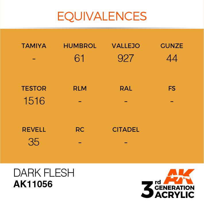 AK-Interactive Dark Flesh Acrylic Modelling Color - 17ml - AK-11056