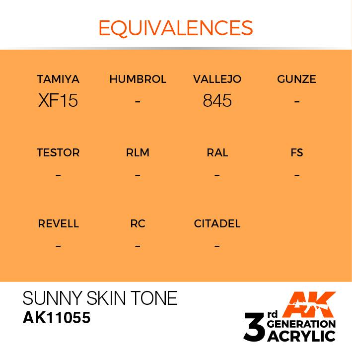 AK-Interactive Sunny Skin Tone Acrylic Modelling Color - 17ml - AK-11055