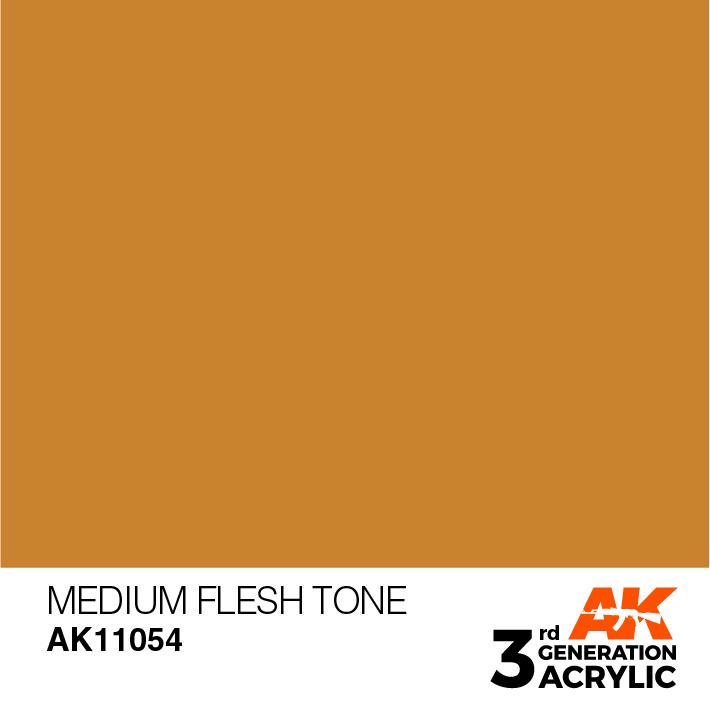 AK-Interactive Medium Flesh Tone Acrylic Modelling Color - 17ml - AK-11054