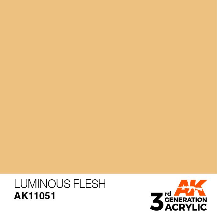AK-Interactive Luminous Flesh Acrylic Modelling Color - 17ml - AK-11051