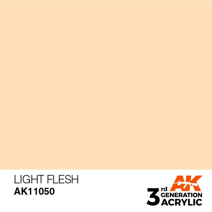 AK-Interactive Light Flesh Acrylic Modelling Color - 17ml - AK-11050