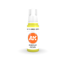 Fluorescent Yellow Acrylic Modelling Color - 17ml - AK-11049