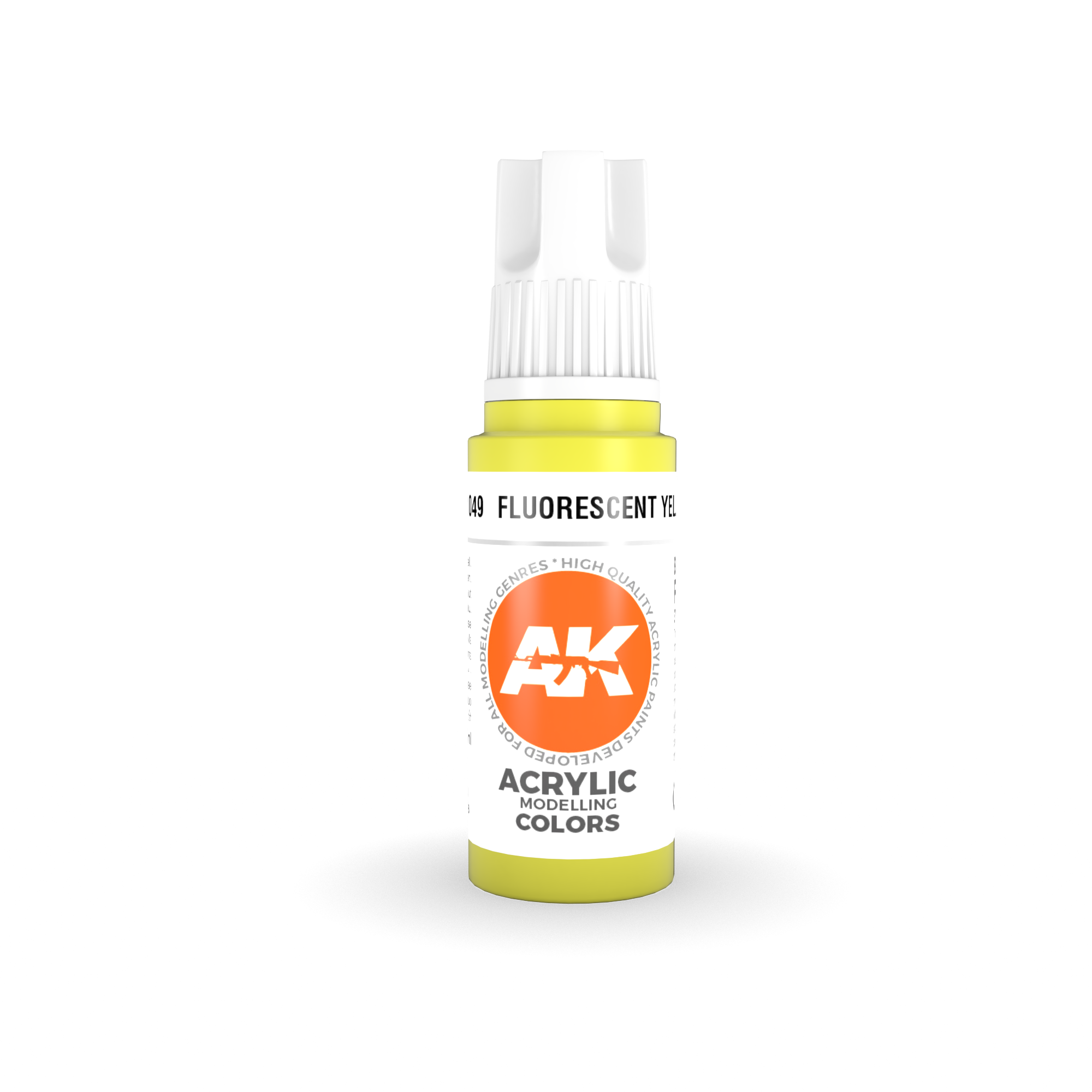 AK-Interactive Fluorescent Yellow Acrylic Modelling Color - 17ml - AK-11049