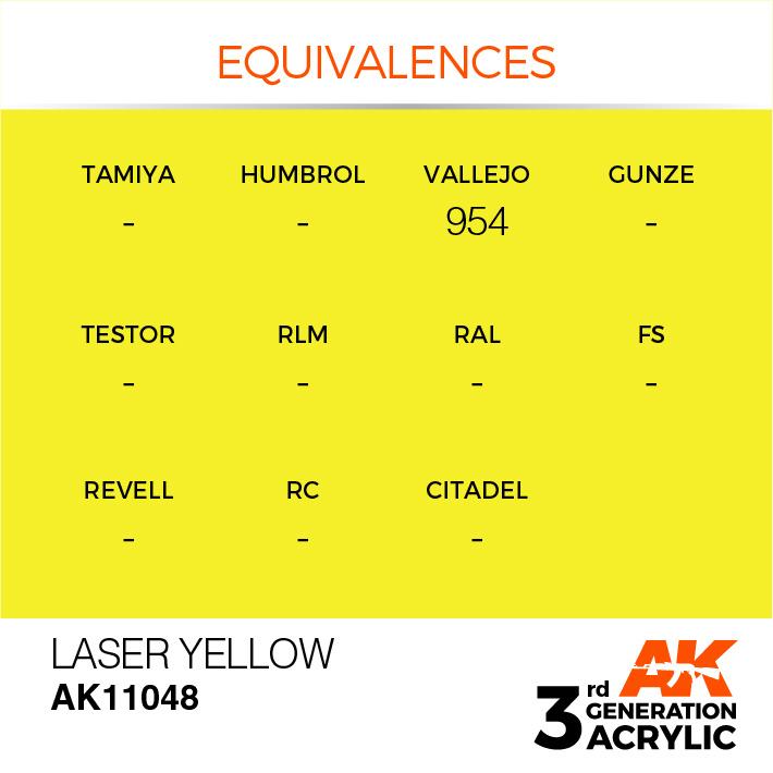 AK-Interactive Laser Yellow Acrylic Modelling Color - 17ml - AK-11048