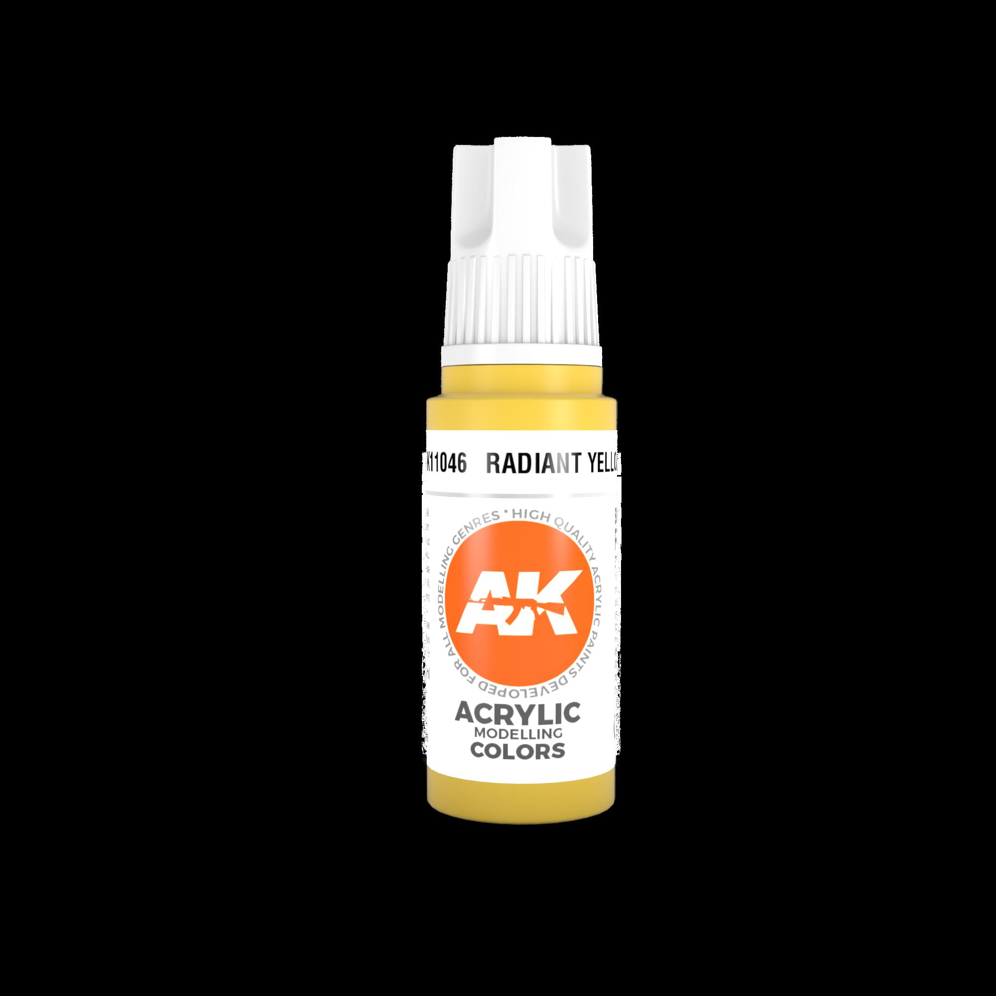 AK-Interactive Radiant Yellow Acrylic Modelling Color - 17ml - AK-11046