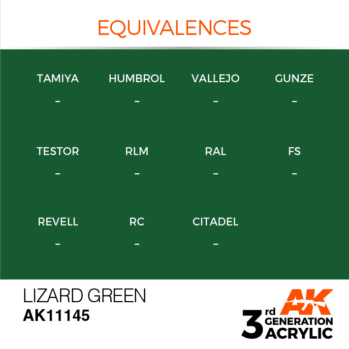 AK-Interactive Lizard Green Acrylic Modelling Color - 17ml - AK-11145
