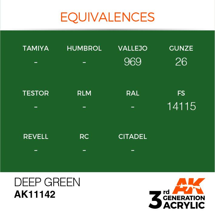 AK-Interactive Deep Green Acrylic Modelling Color - 17ml - AK-11142
