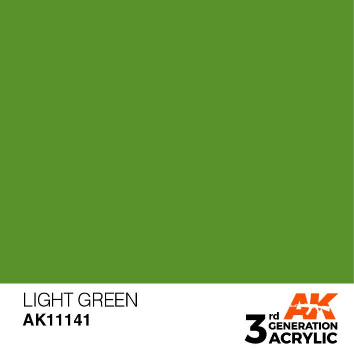 AK-Interactive Light Green Acrylic Modelling Color - 17ml - AK-11141