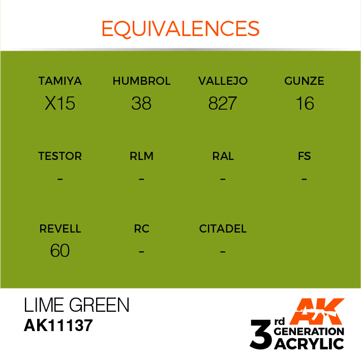 AK-Interactive Lime Green Acrylic Modelling Color - 17ml - AK-11137