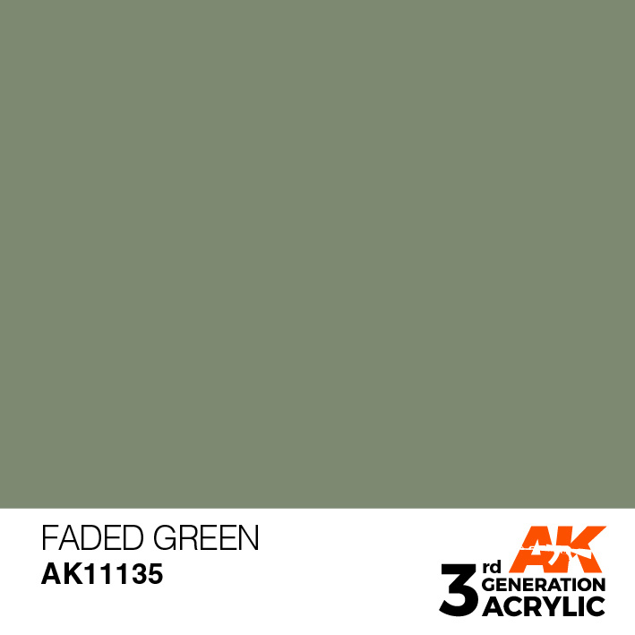 AK-Interactive Faded Green Acrylic Modelling Color - 17ml - AK-11135