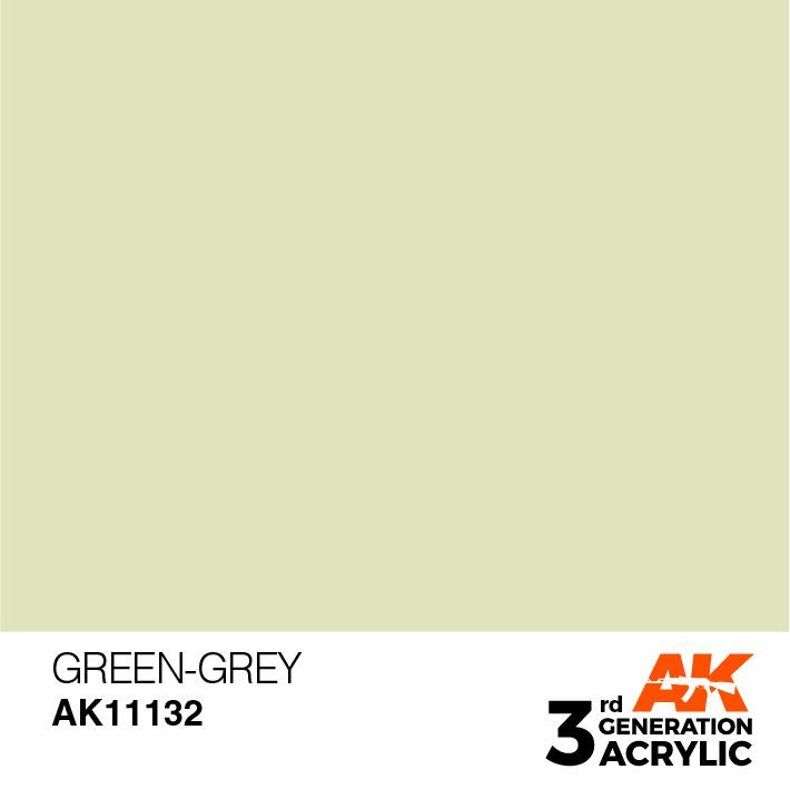 AK-Interactive Green-Grey Acrylic Modelling Color - 17ml - AK-11132