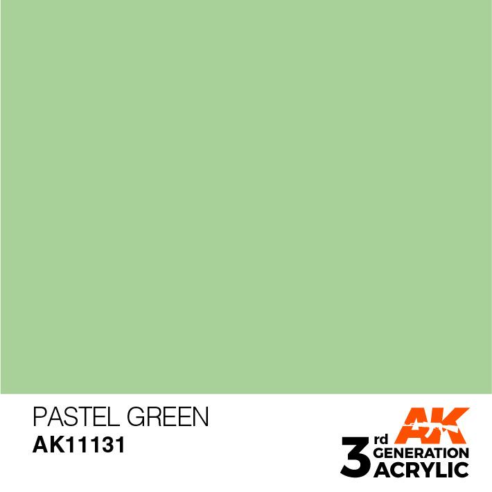 AK-Interactive Pastel Green Acrylic Modelling Color - 17ml - AK-11131