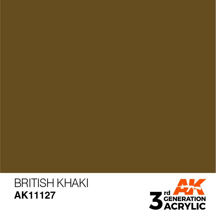 AK-Interactive British Khaki Acrylic Modelling Color - 17ml - AK-11127