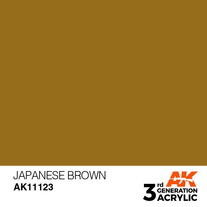 AK-Interactive Japanese Brown Acrylic Modelling Color - 17ml - AK-11123