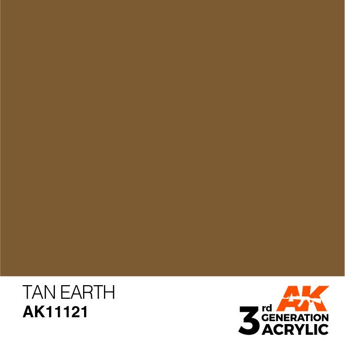 AK-Interactive Tan Earth Acrylic Modelling Color - 17ml - AK-11121