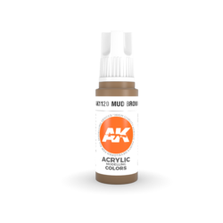 Mud Brown Acrylic Modelling Color - 17ml - AK-11120