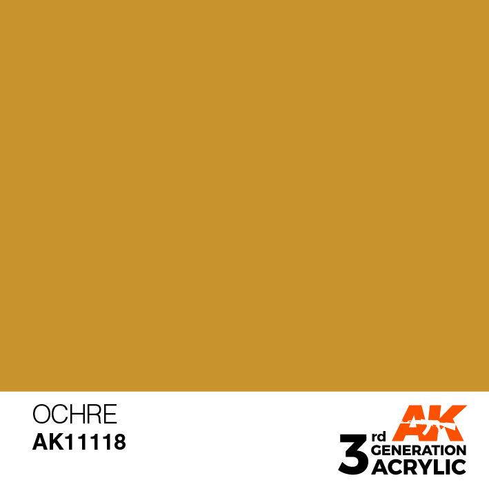 AK-Interactive Ocher Acrylic Modelling Color - 17ml - AK-11118