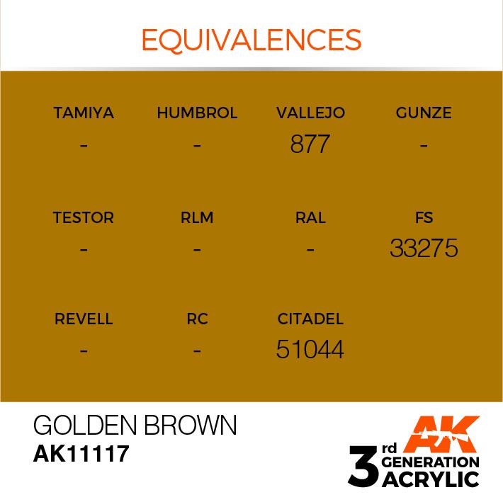 AK-Interactive Golden Brown Acrylic Modelling Color - 17ml - AK-11117