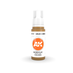 Golden Brown Acrylic Modelling Color - 17ml - AK-11117