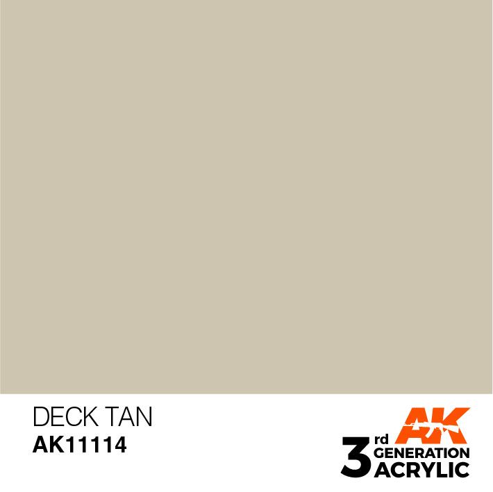 AK-Interactive Deck Tan Acrylic Modelling Color - 17ml - AK-11114