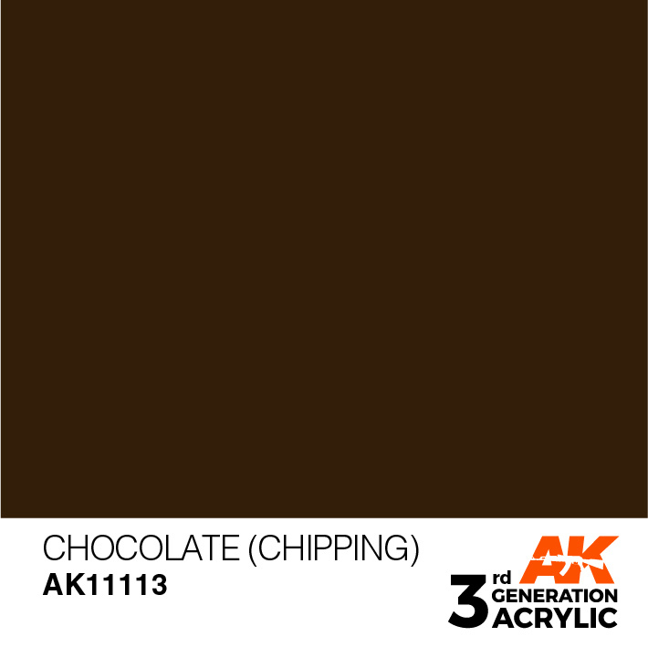 AK-Interactive Chocolate (Chipping) Acrylic Modelling Color - 17ml - AK-11113